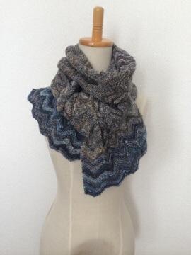 【完成】『裏も楽しい手編みのマフラー』…