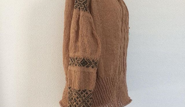 #terusweater 片袖編めました。イメージ&#…