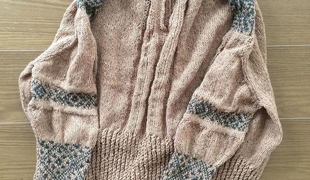#terusweater 編み上がりました!ヘロヘ&#…