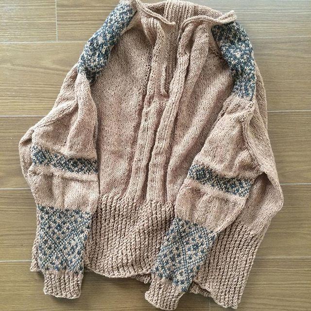 #terusweater 編み上がりました!ヘロヘ...