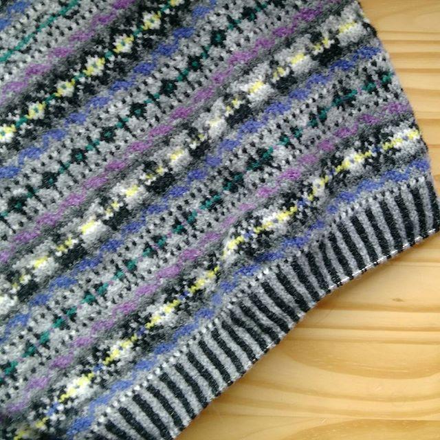 ゴム編み、これにきめました。フェアアイ…