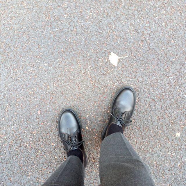 新しい靴。10代の頃、イギリスで買ったDr.…