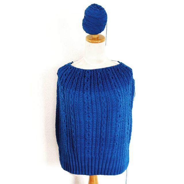 ややや!ロット差が激しすぎる。。。 #knitting #knitofinstagram #myoriginaldesign