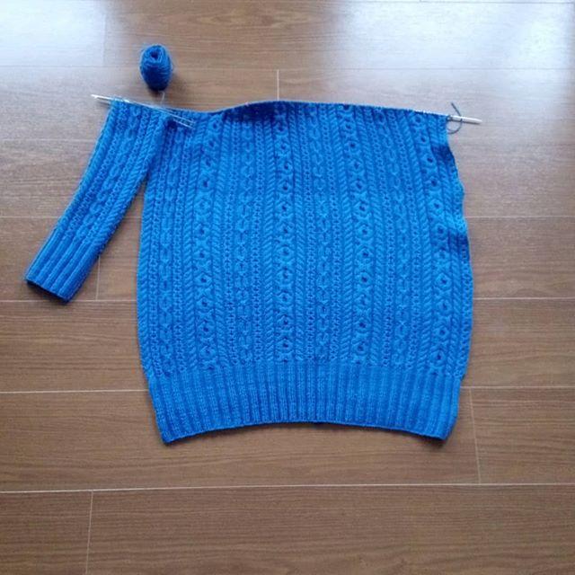 #elementalaffects のfingeringはすごい。これで2かせ。#knitting #knitofinstagram #yarnaholic_shop #hiyahiyaneedles